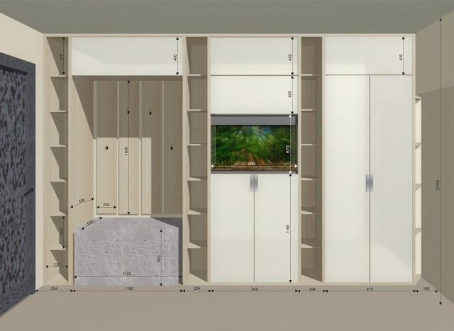 Пуф и шкаф с размерами